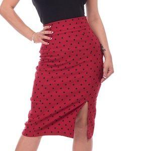 NWOT Rock Steady retro pin up polka dot skirt, M